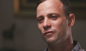 An image taken from the athlete's interview with ITV ahead of his re-sentencing for murder.