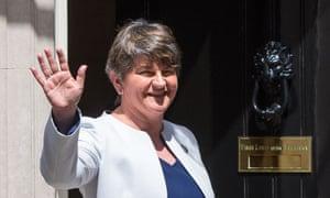 DUP leader Arlene Foster at Downing Street on 13 June.