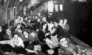 Civilians take shelter in a Madrid metro station in 1938