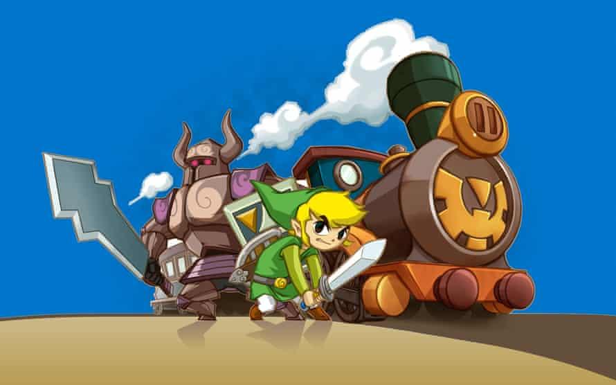 Tactile joy … Zelda Spirit Tracks.