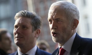 Jeremy Corbyn, right, with Keir Starmer, the shadow secretary of state for exiting the European Union
