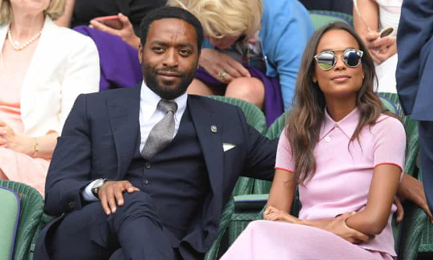 Polo-shirt chic … Frances Aaterni with Chiwetel Ejiofor.