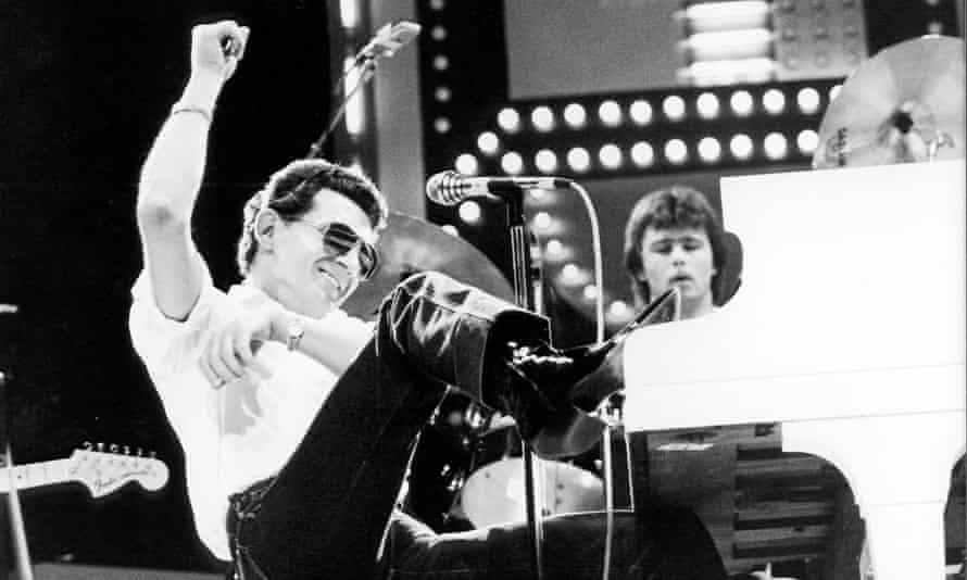 Great balls of fire … Jerry Lee Lewis is one of the rock bad boys focused on in Disgraceland.