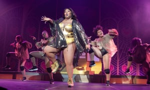 Rapper Lizzo at Brixton Academy in London.