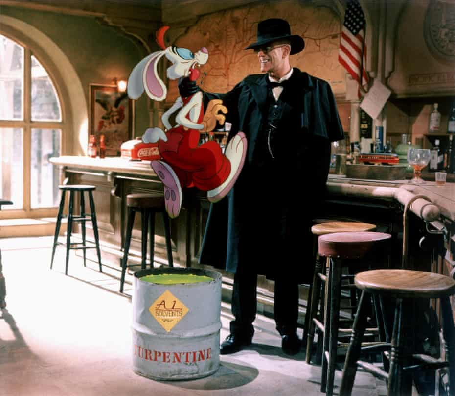 Roger Rabbit & Christopher Lloyd as Judge Doom.