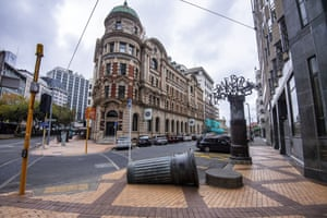A deserted Wellington street on Friday