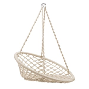 Natural hammock chair, £145, beaumonde.co.uk