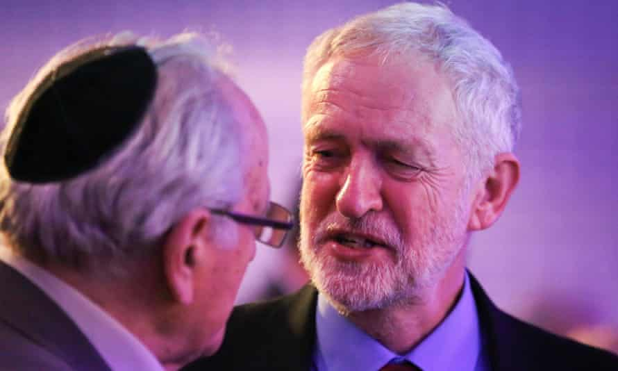 Jeremy Corbyn during the Holocaust Memorial Day service, London, 2017.