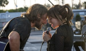 Bradley Cooper with Lady Gaga in A Star Is Born.
