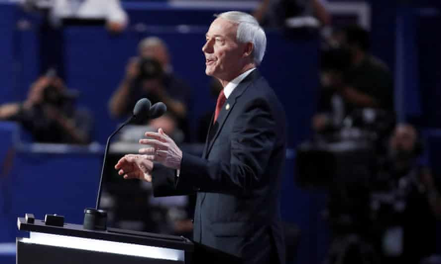 Arkansas governor Asa Hutchinson: 'I did sign the protection for girls in sports which says biological males cannot compete on a girls team.'