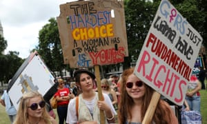A protest in support of legal abortion in Northern Ireland in Parliament Square, London.