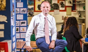 Simon Stevens at an art therapy session for teenagers at Maudsley hospital.