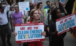 Women demonstrate against climate change in America