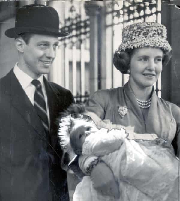 At the Christening of her son Charles, 1957.