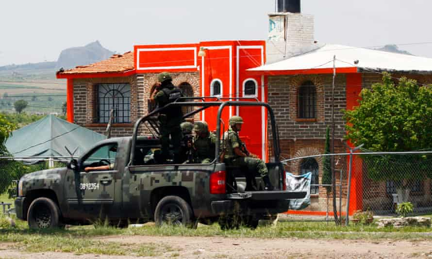 Members of the Mexican army patrol outside the prison in Jalisco state before the release in 2013 of cartel boss Rafael Caro Quintero – who masterminded the kidnap and murder of the US anti-drug agent Kiki Camarena.