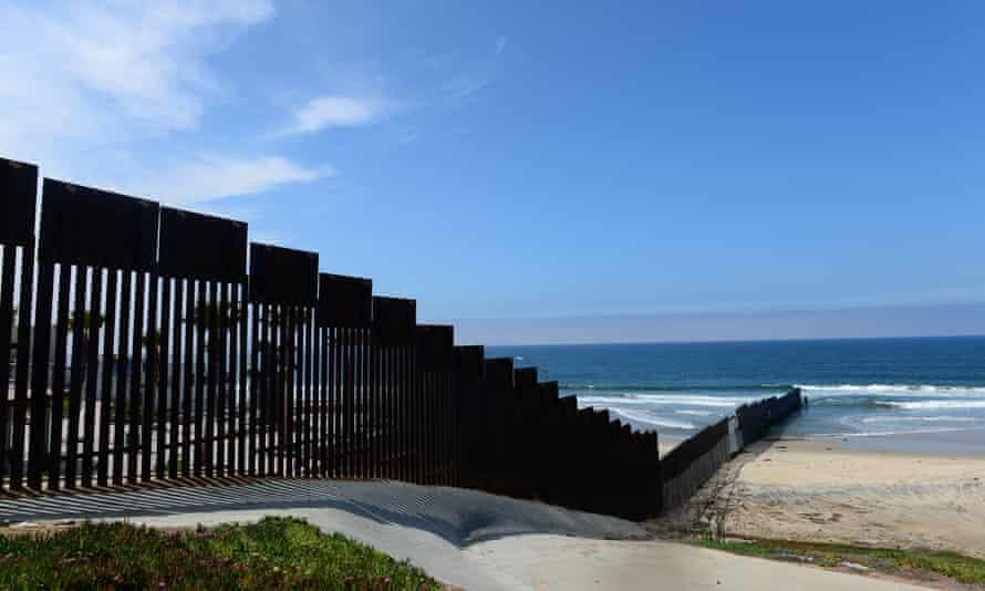 The US-Mexico 'border-fence' runs some three hundred feet into the Pacific Ocean but more Mexicans are crossing to the south than heading north.