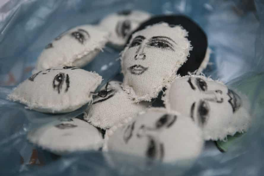 Keyrings sold in Mexico City to raise money for victims of domestic violence