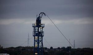 Cuadrilla's fracking well at Little Plumpton in Lancashire.
