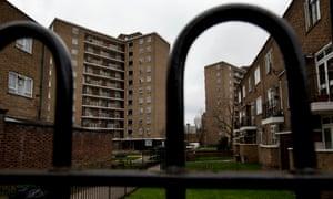 Social housing on the Treverton estate in north Kensington, London.