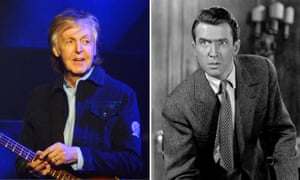 Composite: Paul McCartney and James Stewart in It's A Wonderful Life