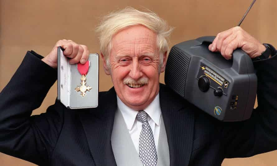 Baylis with his CBE and one of his wind-up radios
