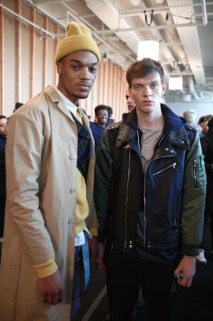 models backstage at John Elliott