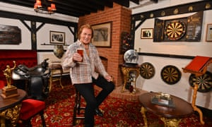 Engelbert Humperdinck relaxes at The Red Fox, at his Leicestershire home.