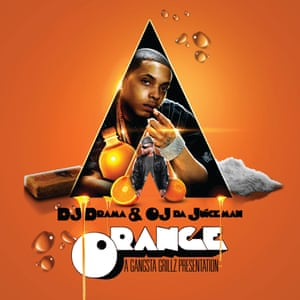 DJ Drama and OJ Da Juiceman – Orange – Design by KidEight.Another great example of how a movie can cross-breed with a mixtape. Clockwork Orange spliced with OJ Da Juiceman and you get one of the cleanest and strongest covers of the past decade