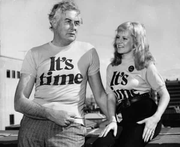 Gough Whitlam with singer Little Pattie in 1972 during his Labor election campaign.