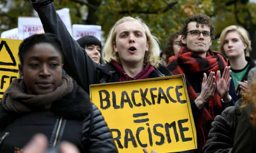 Anti-racist campaigners in The Hague