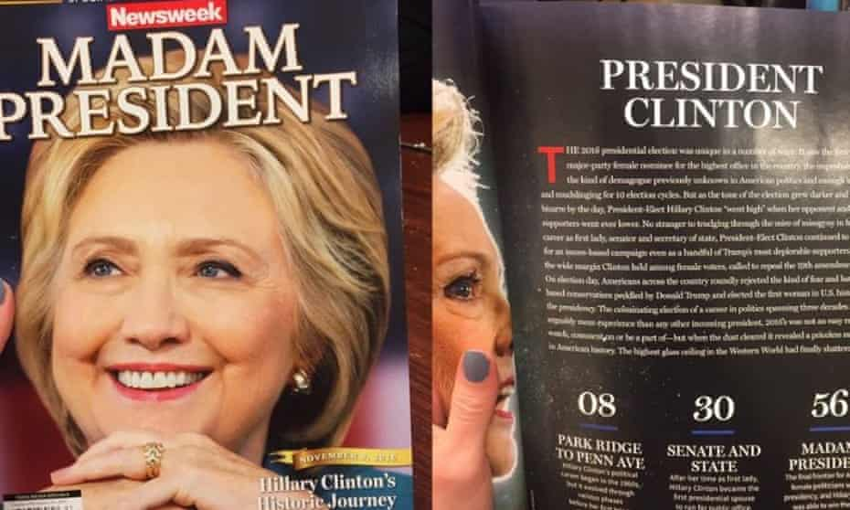 Newsweek's prepared cover in the expectation of a very different election outcome.