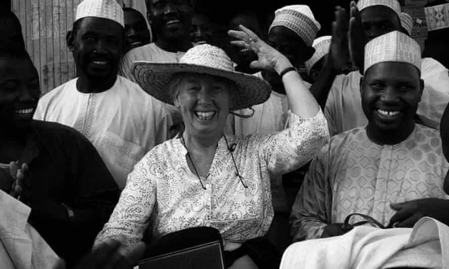 Mary Tiffen in Nigeria; her research there focused on the ingenuity of farmers making a living in difficult environments