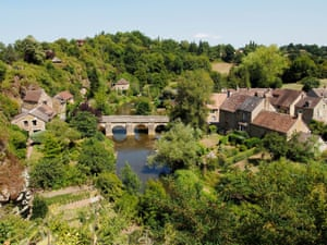 Saint-Ceneri-le-Gerei, a beautiful village on the River Sarthe in Orne department of Normandy France