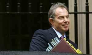 British prime minister Tony Blair outside No 10, January 2006