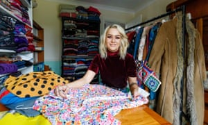 Sarah Fewell, who runs a business selling secondhand and vintage clothes on the website Depop that now has 10 million users.