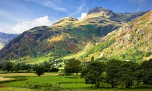 Langdale Pikes in the Langdale Valley, Lake District National Park, Cumbria.