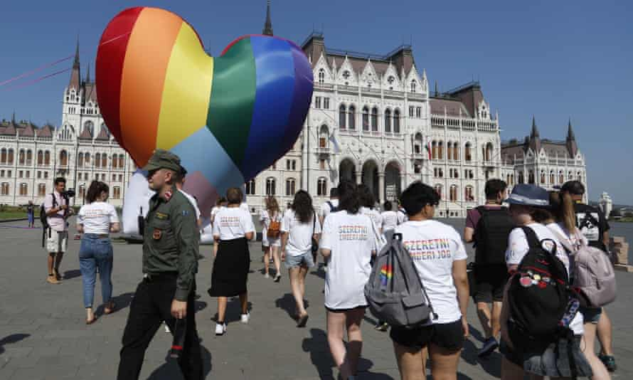 LGBTQ+ activists in Budapest