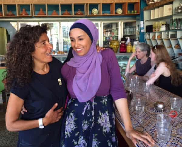 Founder of Muslim speed dating, Hana Assafiri (left) with Toltu Tufa.