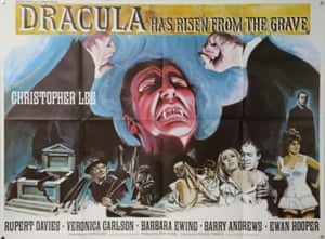 Hammer Films' 1968 movie Dracula Has Risen From The Grave, with artwork by Tom Chantrell.