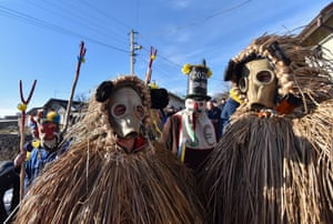 Beleluya, Ukraine Locals wearing costumes walk from house to house and perform short plays during the celebrations of the winter holiday Malanka, or Old New Year.