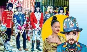 The Rolling Stones; Rihanna; Boy George.