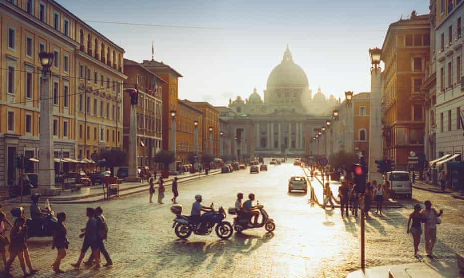 view of St Peter's from via della Conciliazione