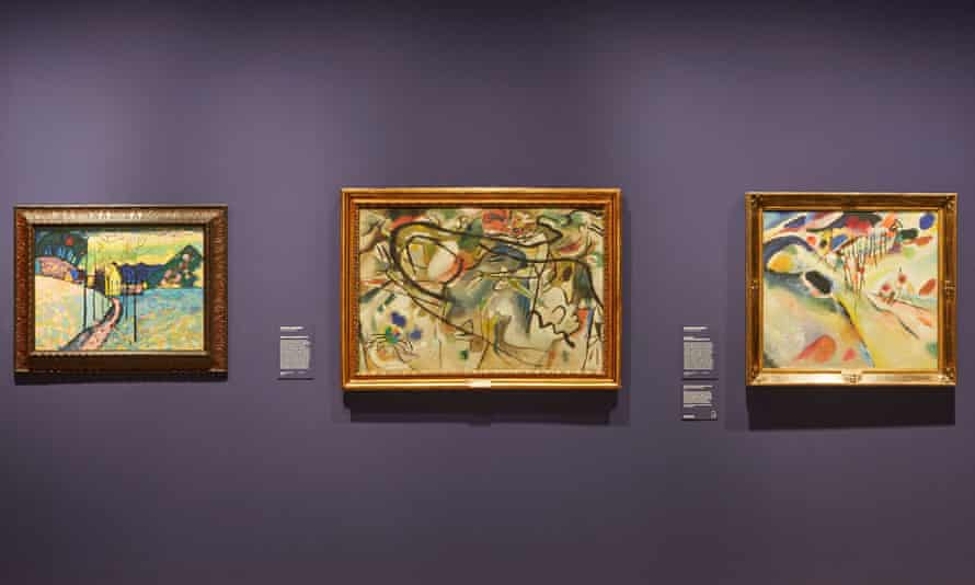 Installation view of Masters of modern art from the Hermitage at the Art Gallery of New South Wales.