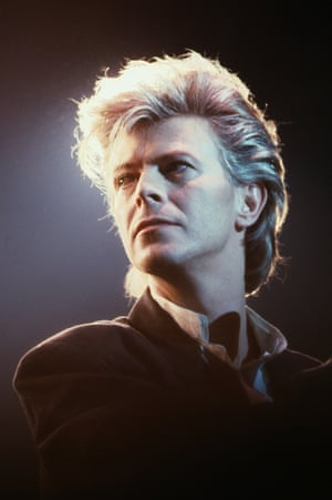The most important and influential artist since the Beatles … Bowie on stage in Paris, 1987.