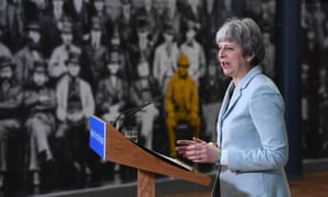 Theresa May delivers a keynote education speech in Derbyshire