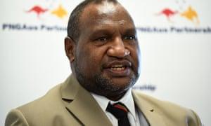 Papua New Guinea's new prime minister, James Marape.