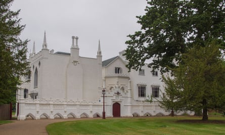 Horace Walpole's gothic villa, Strawberry Hill, in Twickenham.