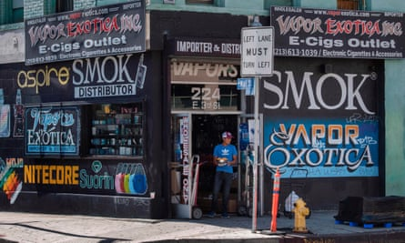 A vape shop in the US.