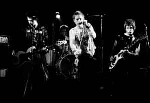The Sex Pistols perform in 1977