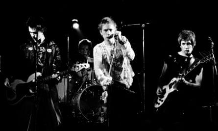 The Sex Pistols playing in Copenhagen in July 1977.